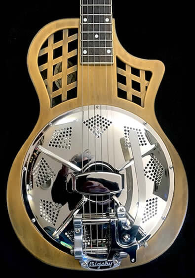 The Dobrato Resophonic Guitar Brass Body