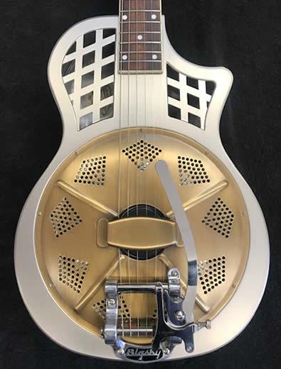 The Dobrato Resophonic Guitar Brass Body